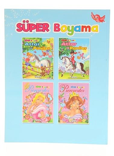 Süper Boyama-Atlar Ve Poniler-2-Çiçek Yayıncılık